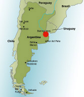 Spanish Language Schools And Language Immersion In Cordoba Argentina - Argentina map small