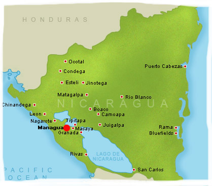 Spanish Language Schools And Language Immersion In Nicaragua - Nicaragua map hd