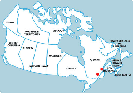 French Map Of Canada.French Language Study Language Immersion In Canada